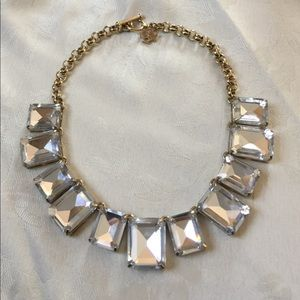 Ann Taylor Crystal Bib Necklace